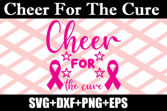 Download Free 1 Cheer For The Cure Designs Graphics for Cricut Explore, Silhouette and other cutting machines.