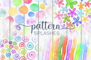Print on Demand: Chic Rainbow Watercolor Pattern Splashes Graphic Crafts By Prawny