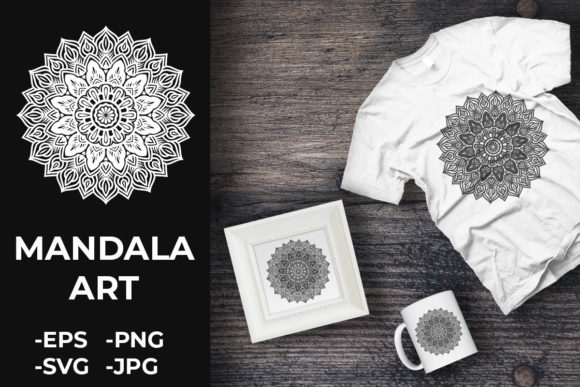Download Free Circular Pattern Mandala Art 323 Graphic By Azrielmch for Cricut Explore, Silhouette and other cutting machines.