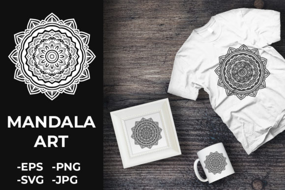 Download Free Circular Pattern Mandala Art 259 Graphic By Azrielmch for Cricut Explore, Silhouette and other cutting machines.