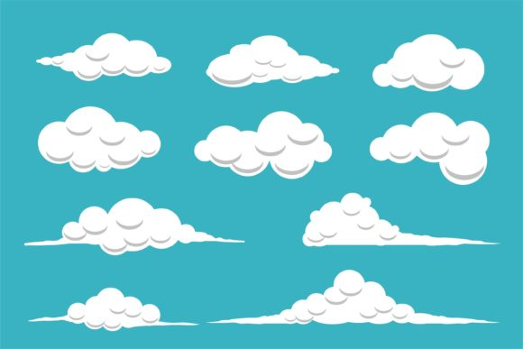 Download Free Cloud On Sky Graphic By Edywiyonopp Creative Fabrica for Cricut Explore, Silhouette and other cutting machines.