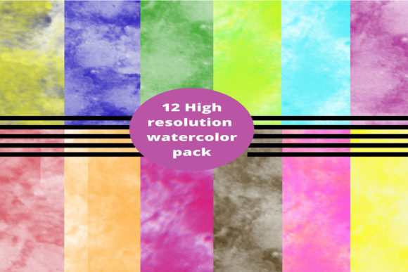 Download Free Colorful Shady Watercolor Textures Graphic By Creative Arts for Cricut Explore, Silhouette and other cutting machines.