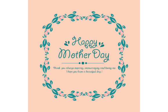 Download Free Cute Happy Mother Day Card Design Graphic By Stockfloral Creative Fabrica for Cricut Explore, Silhouette and other cutting machines.