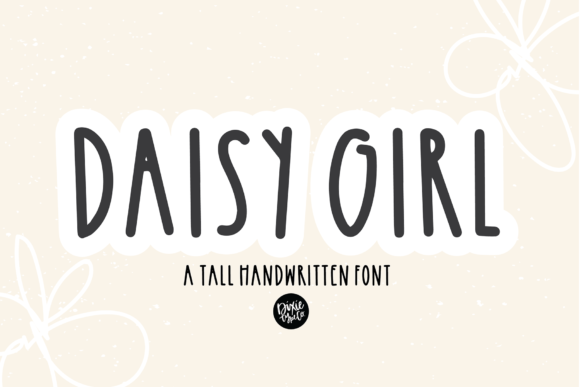 Print on Demand: Daisy Girl Script & Handwritten Font By dixietypeco