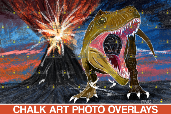 Download Free Dinosaurs Chalk Art Overlays Dinosaur Graphic By 2suns for Cricut Explore, Silhouette and other cutting machines.