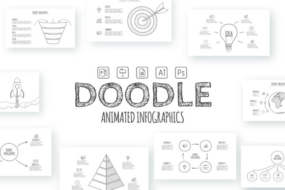 Doodle Infographics Presentation Graphic Presentation Templates By Infostore