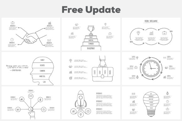 Download Free Doodle Infographics Presentation Graphic By Infostore Creative for Cricut Explore, Silhouette and other cutting machines.