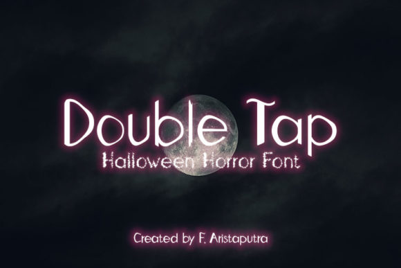 Print on Demand: Double Tap Display Font By Erik5541