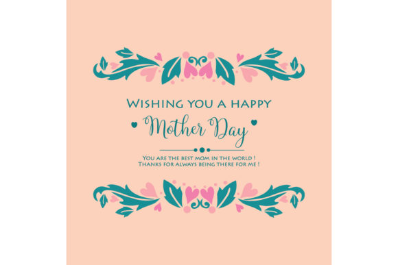 Elegant Happy Mother Day Card Design Graphic Backgrounds By stockfloral