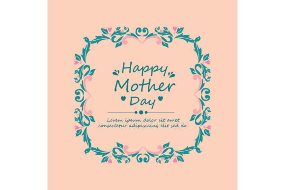 Elegant Happy Mother Day Crad Design Graphic Backgrounds By stockfloral