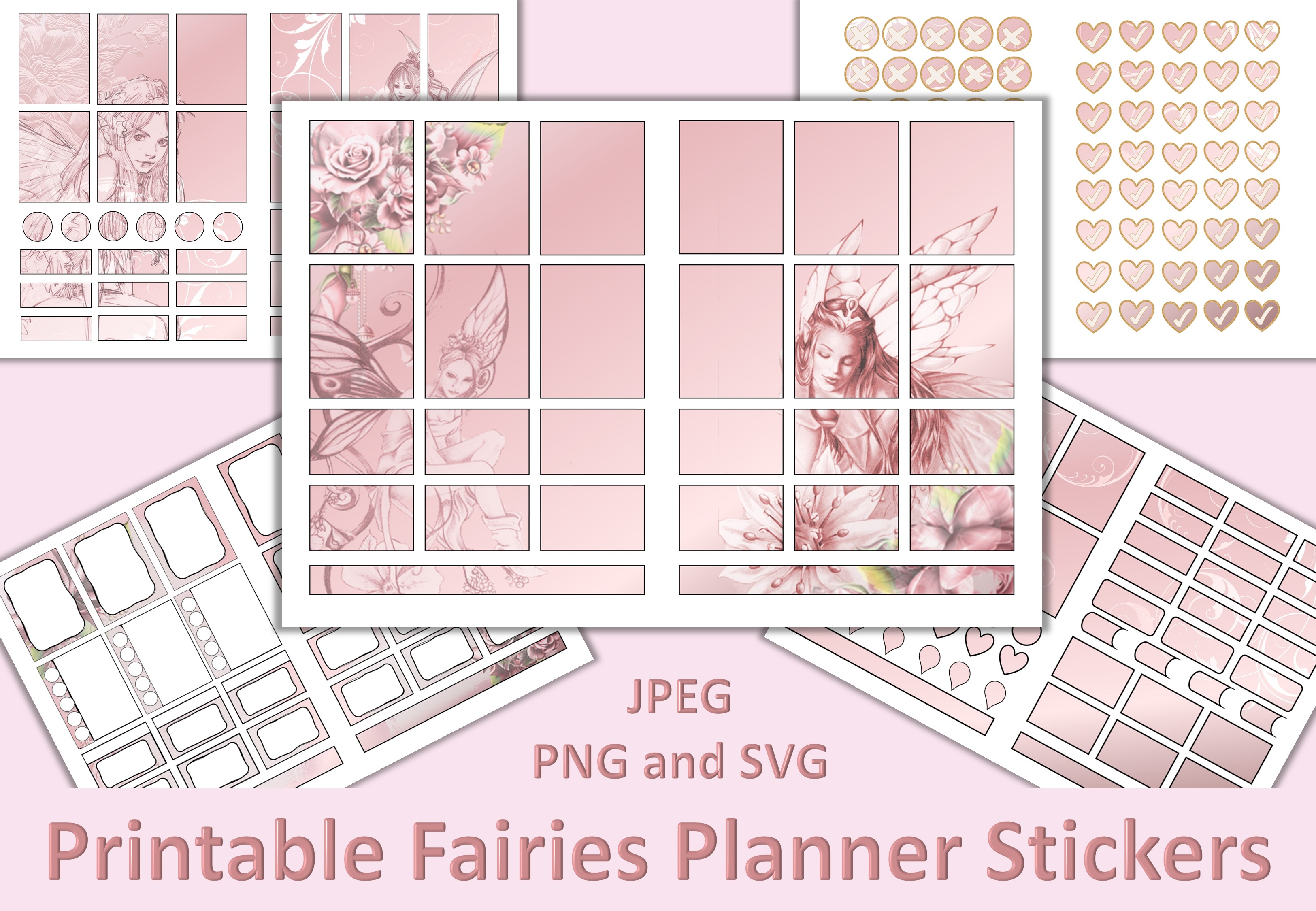 Download Free Fairies Planner Stickers Graphic By Digitalcraftsco Creative for Cricut Explore, Silhouette and other cutting machines.