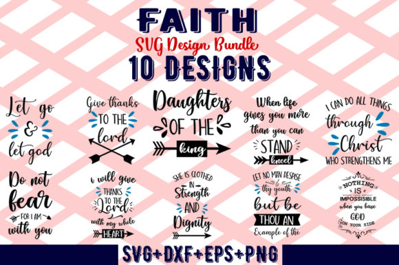Download Free Faith Svg Bundle Graphic By Design Store Creative Fabrica for Cricut Explore, Silhouette and other cutting machines.