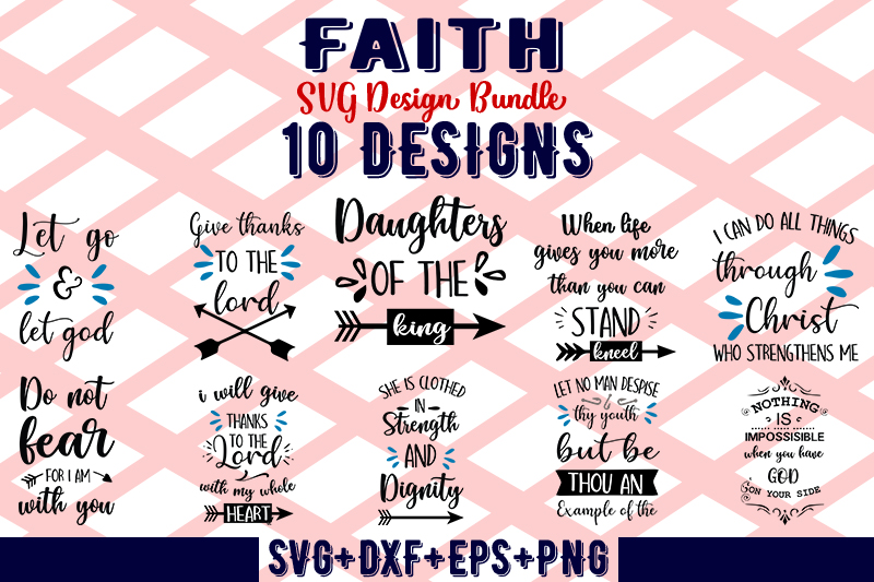 Download Free Faith Bundle Graphic By Design Store Creative Fabrica for Cricut Explore, Silhouette and other cutting machines.