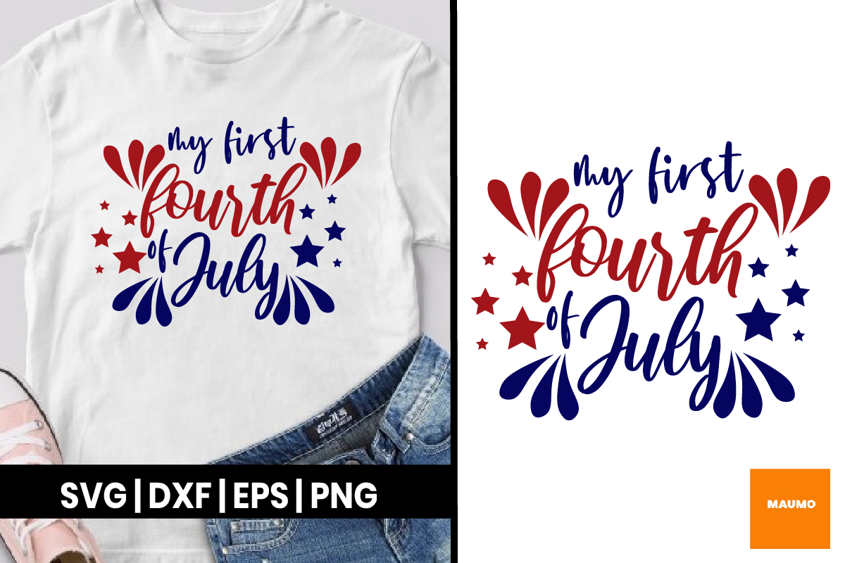 First 4th Of July Graphic By Maumo Designs Creative Fabrica