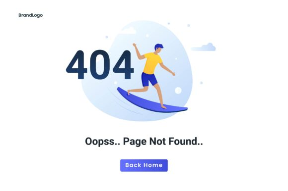 Download Free Flat Concept 404 Error Page Not Found Graphic By H12 Creative for Cricut Explore, Silhouette and other cutting machines.