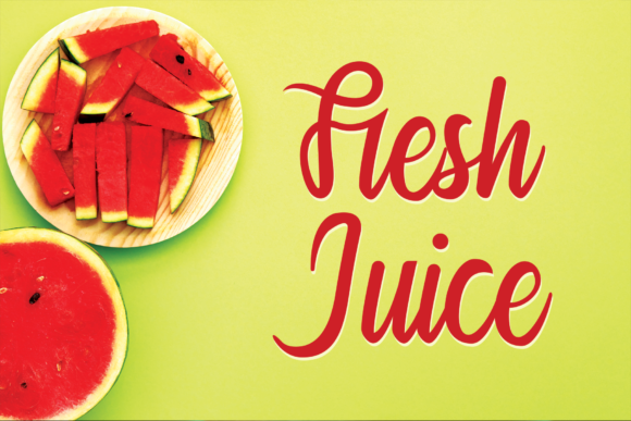 Print on Demand: Fresh Juice Script & Handwritten Font By K_IN Studio