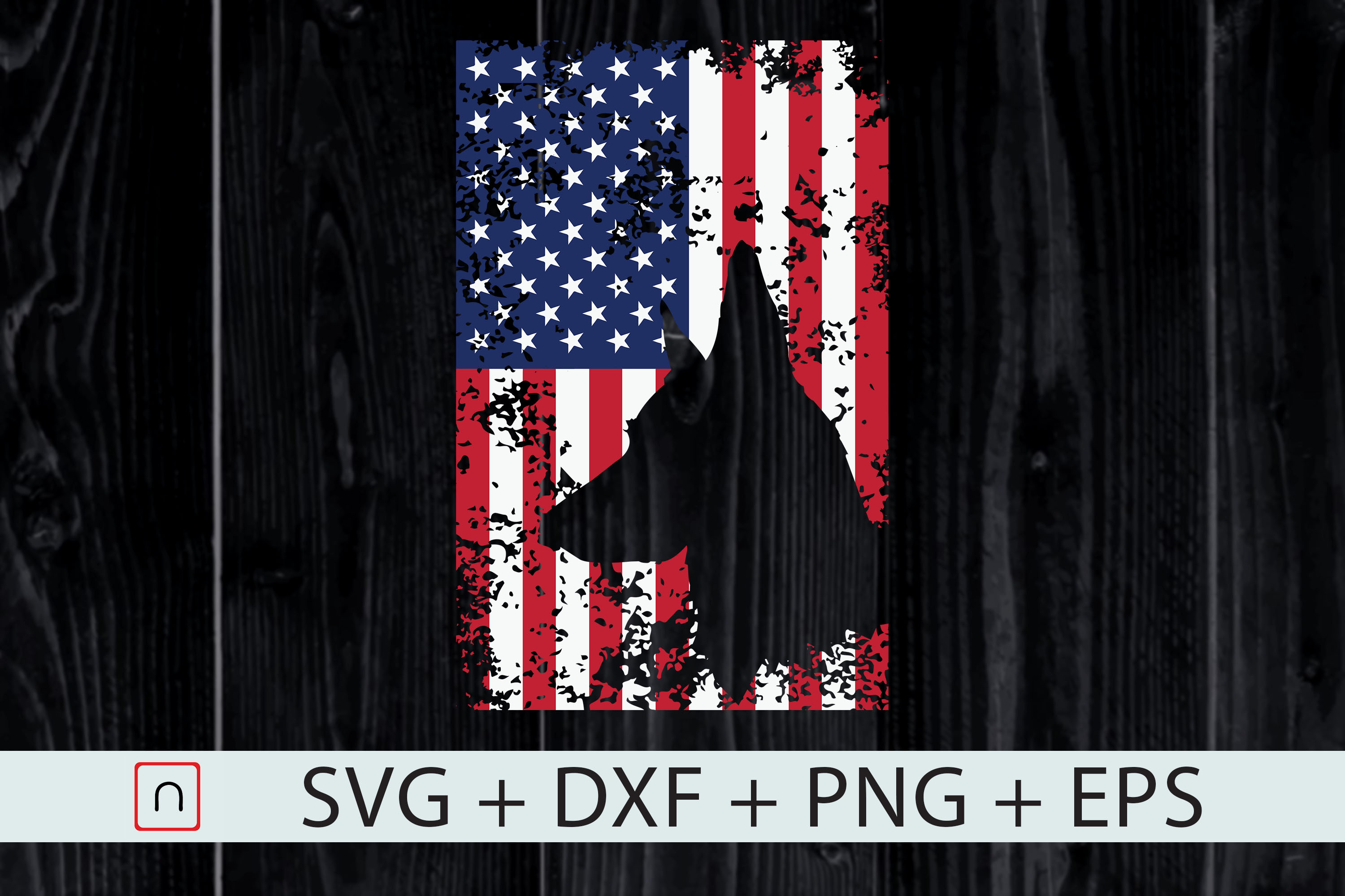 Download Free German Shepherd Flag Usa Patriotic Dog Graphic By Novalia for Cricut Explore, Silhouette and other cutting machines.