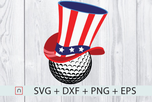 Download Free Golf 4th Of July Golf Patriotic Graphic By Novalia Creative for Cricut Explore, Silhouette and other cutting machines.