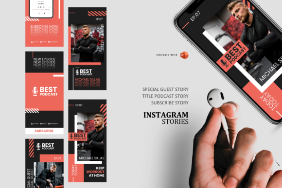 Download Free Gym Podcaster Ig Stories And Posts Graphic By Rivatxfz for Cricut Explore, Silhouette and other cutting machines.
