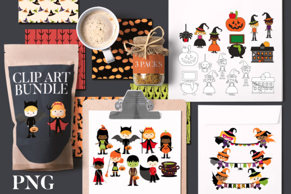 Print on Demand: Halloween School Party Bundle Graphic Illustrations By Revidevi