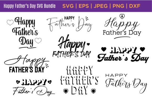 Download Free Happy Father S Day Quotes Bundle Graphic By Saudagar Creative SVG Cut Files