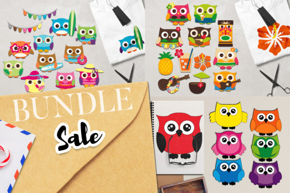 Download Free Happy Summer Owl Bundle Graphic By Revidevi Creative Fabrica SVG Cut Files