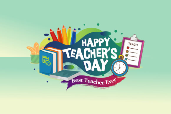Download Free Happy Teacher S Day Card Or Banner Design Graphic By Onoborgol for Cricut Explore, Silhouette and other cutting machines.