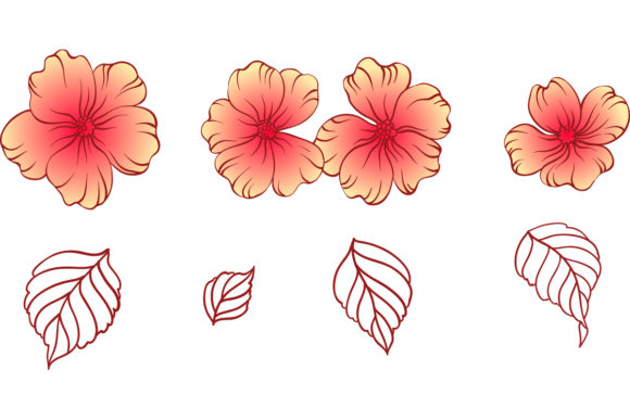 Download Free Impatiens Floral Pattern And Clipart Graphic By Emikundesigns Creative Fabrica for Cricut Explore, Silhouette and other cutting machines.