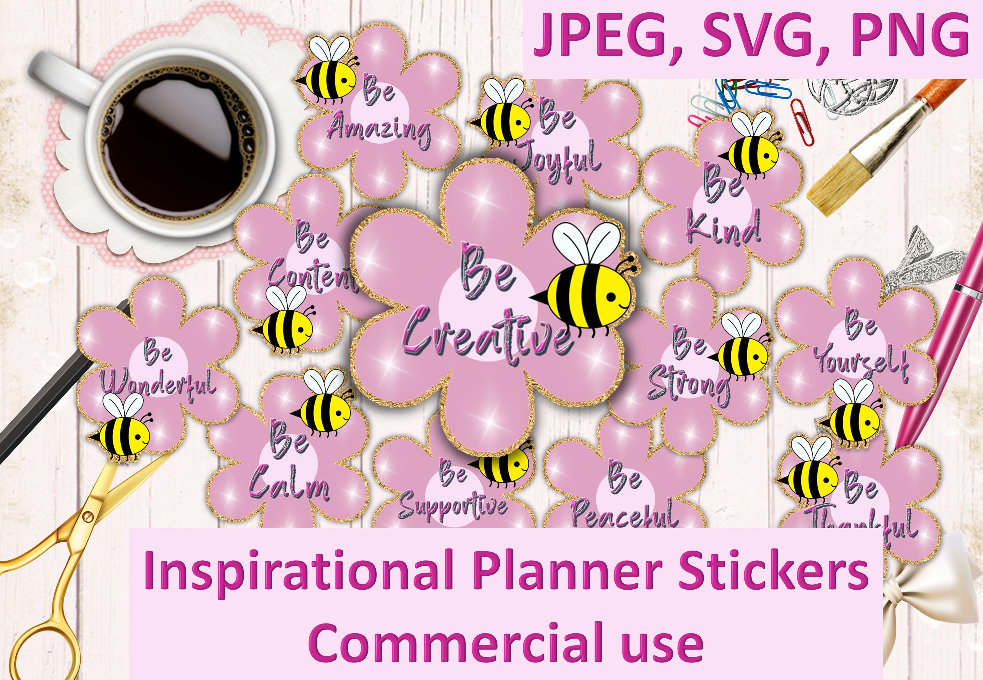 Download Free Inspirational Stickers Graphic By Digitalcraftsco Creative Fabrica for Cricut Explore, Silhouette and other cutting machines.
