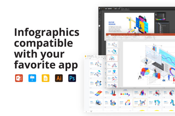 Download Free Isometric Animated Illustrations Graphic By Infostore Creative for Cricut Explore, Silhouette and other cutting machines.