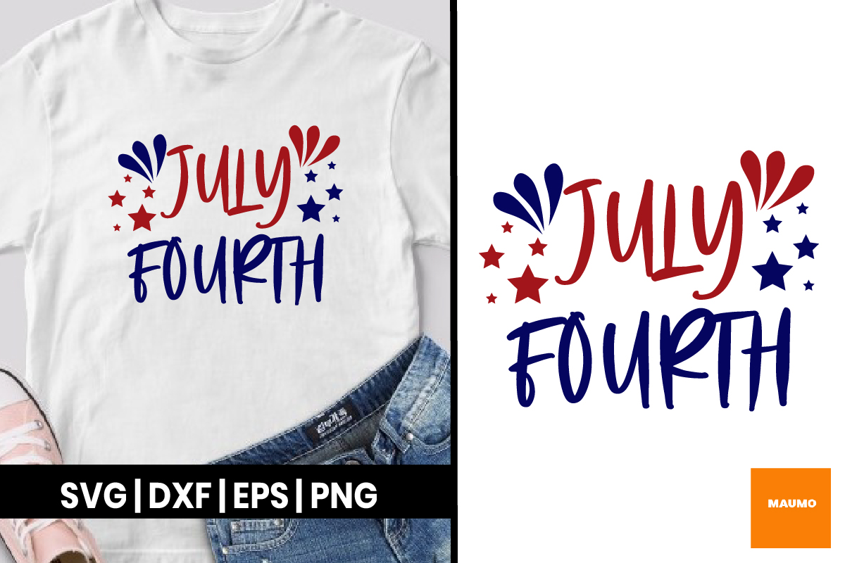 Download Free July Fourth Graphic By Maumo Designs Creative Fabrica for Cricut Explore, Silhouette and other cutting machines.