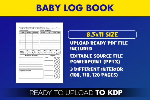 KDP Interior Baby Log Book Editable  Graphic KDP Interiors By Beast Designer - Image 2
