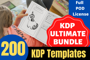Print on Demand: KDP Ultimate Bundle 200 Unique Interiors Graphic KDP Interiors By Mastery Templates