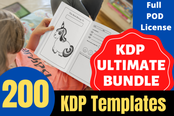 Print on Demand: KDP Ultimate Bundle 200 Unique Interiors Gráfico Páginas KDP Por Mastery Templates