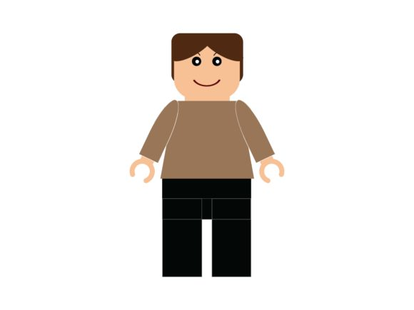 Download Free Lego Avatar Man With Casual Clothes Graphic By White Vanilla for Cricut Explore, Silhouette and other cutting machines.