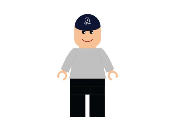Download Free Lego Avatar Man Withwith A Hat In Casual Graphic By White for Cricut Explore, Silhouette and other cutting machines.