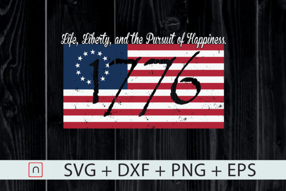 Download Free Life Liberty Pursuit Of Happiness Flag Graphic By Novalia for Cricut Explore, Silhouette and other cutting machines.