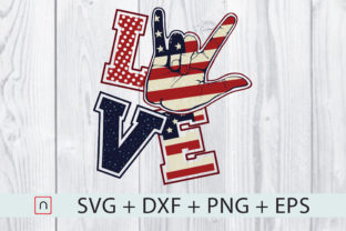 Download Free Love America Graphic By Novalia Creative Fabrica for Cricut Explore, Silhouette and other cutting machines.