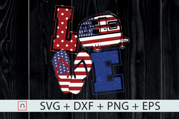 Download Free Love Camping Usa Flag 4th Of July Graphic By Novalia Creative for Cricut Explore, Silhouette and other cutting machines.