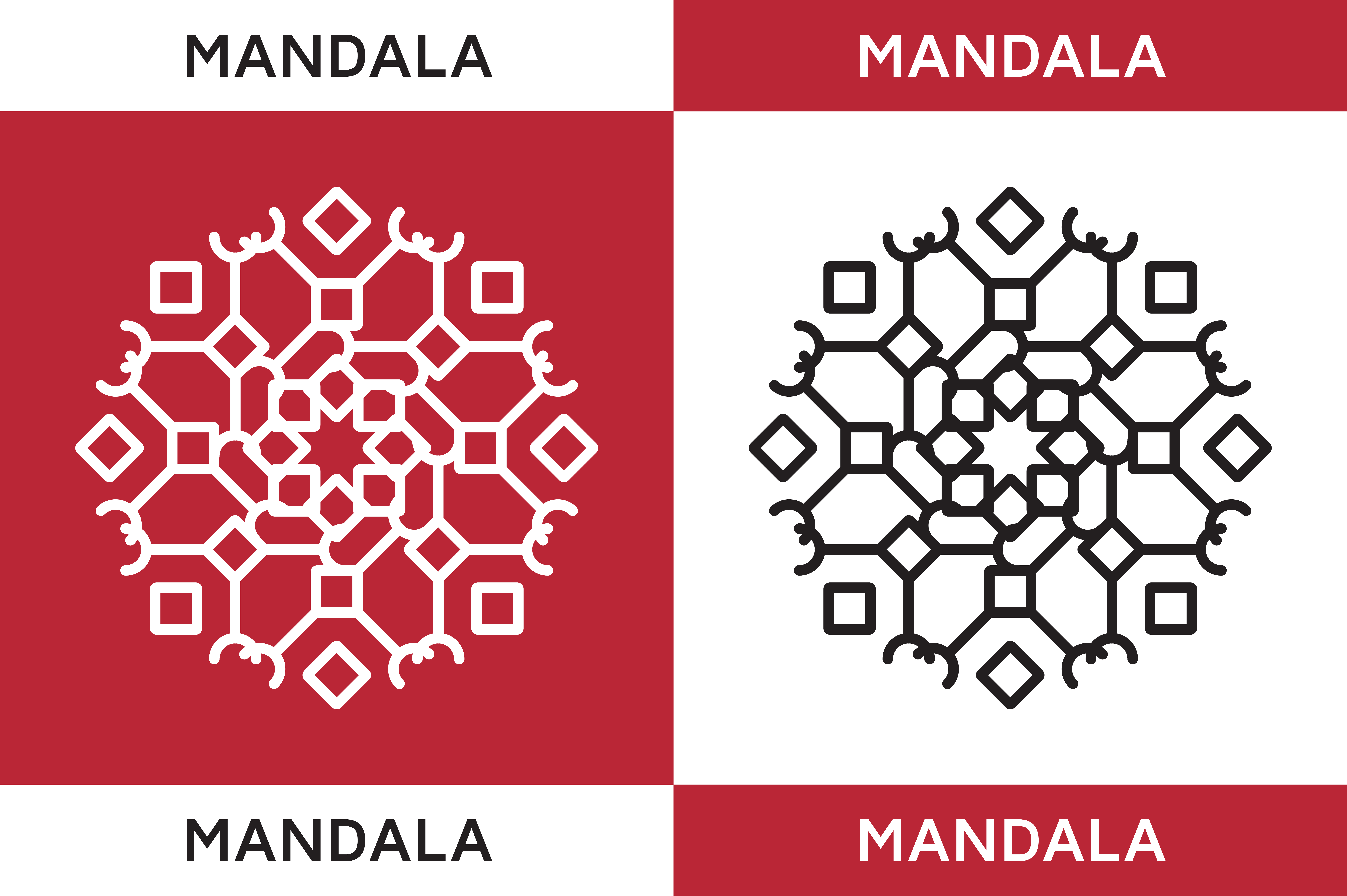 Download Free Mandala Ornaments Graphic By Highvoice Creative Fabrica for Cricut Explore, Silhouette and other cutting machines.
