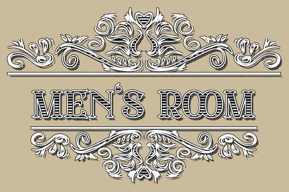 Men S Room Vintage Ornament Frame Vector Graphic By Graphicsfarm