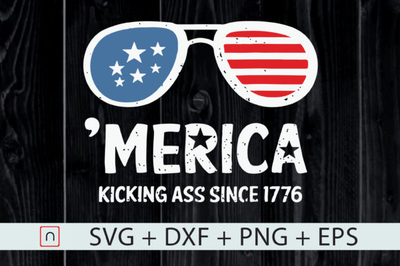 Download Free Merica Kicking A Since 1776 4th Of July Graphic By Novalia for Cricut Explore, Silhouette and other cutting machines.