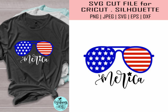 Merica 4th of July Graphic Objects By MidmagArt
