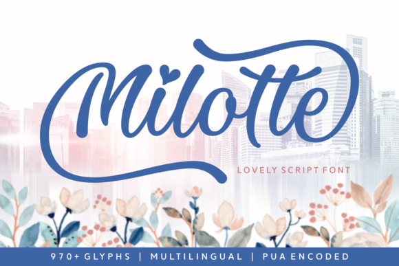 Print on Demand: Milotte Script & Handwritten Font By Situjuh