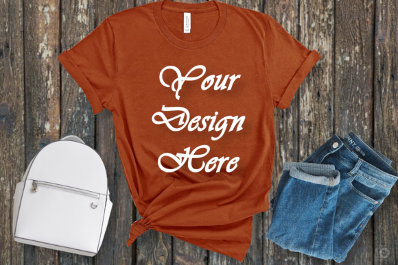 Download Free Bella Canvas Mockup T Shirt Flat Lay Graphic By Mockupsbygaby for Cricut Explore, Silhouette and other cutting machines.