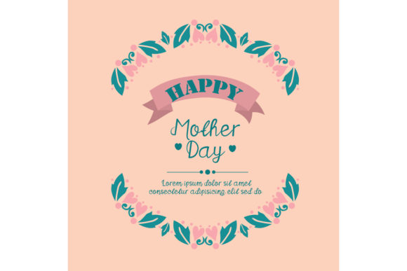 Modern Happy Mother Day Card Design Graphic Backgrounds By stockfloral