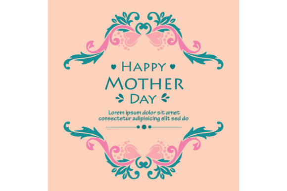 Download Free Modern Happy Mother Day Poster Design Graphic By Stockfloral for Cricut Explore, Silhouette and other cutting machines.