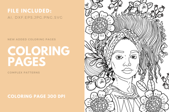 Print on Demand: My Girl Coloring Page for KDP Graphic Coloring Pages & Books Adults By stanosh