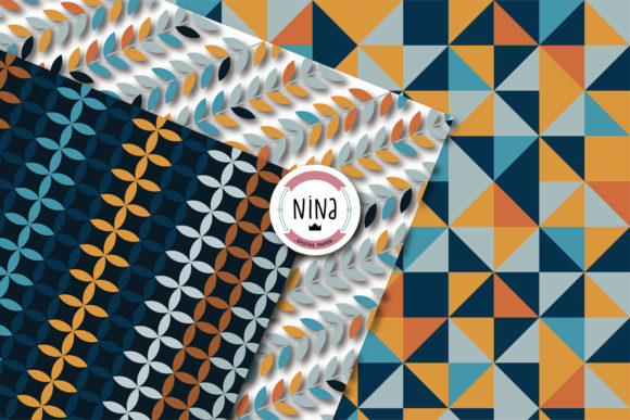 Download Free Nordic Digital Paper Graphic By Nina Prints Creative Fabrica for Cricut Explore, Silhouette and other cutting machines.
