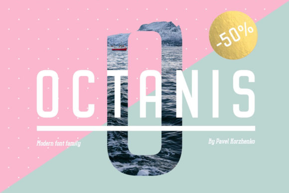 Print on Demand: Octanis Sans Serif Font By vintagevoyageco